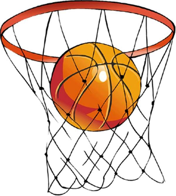 600x669 Ball Clipart Basketball Net