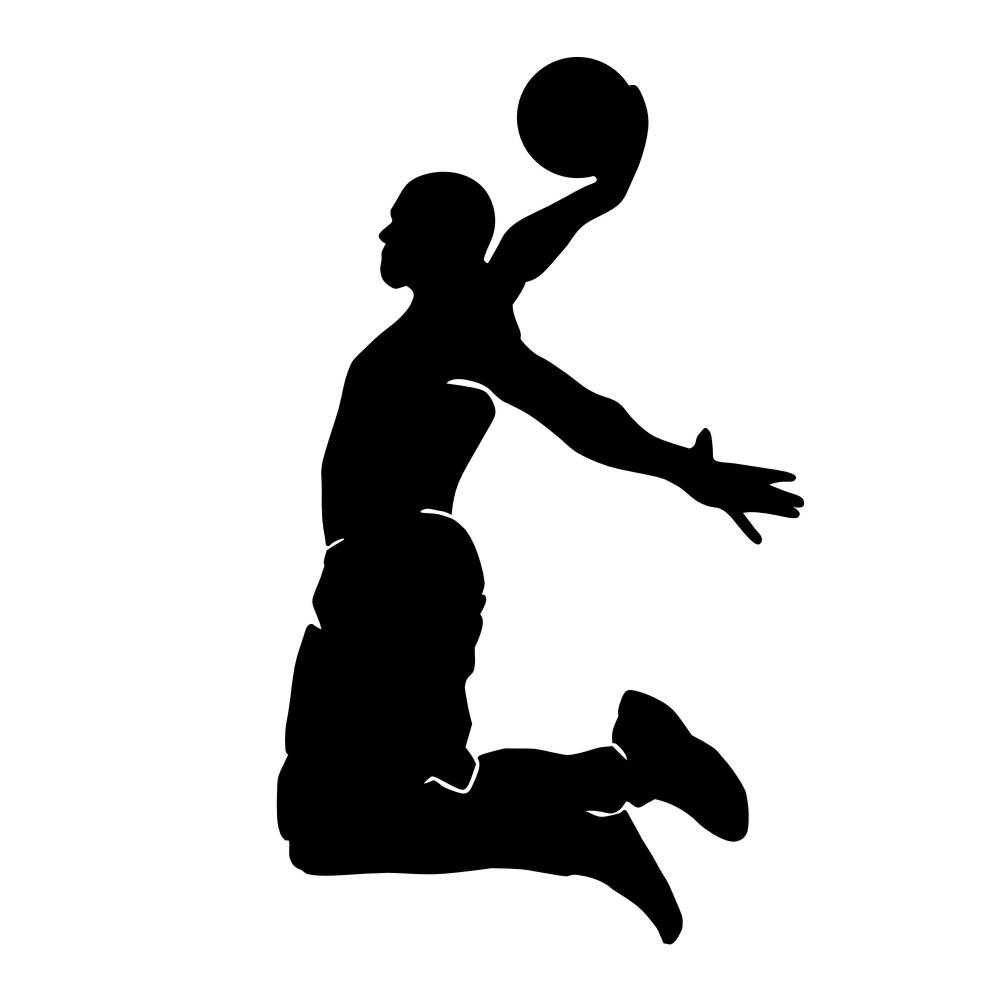 1000x1000 Black Basketball Cliparts