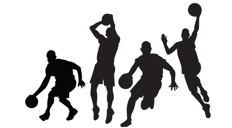 800x444 Clipart Basketball Player