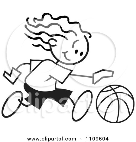 450x470 Clipart Graphic of a Black and White Ball with Maryhill Basketball