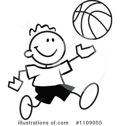 400x420 free black and white basketball clipart