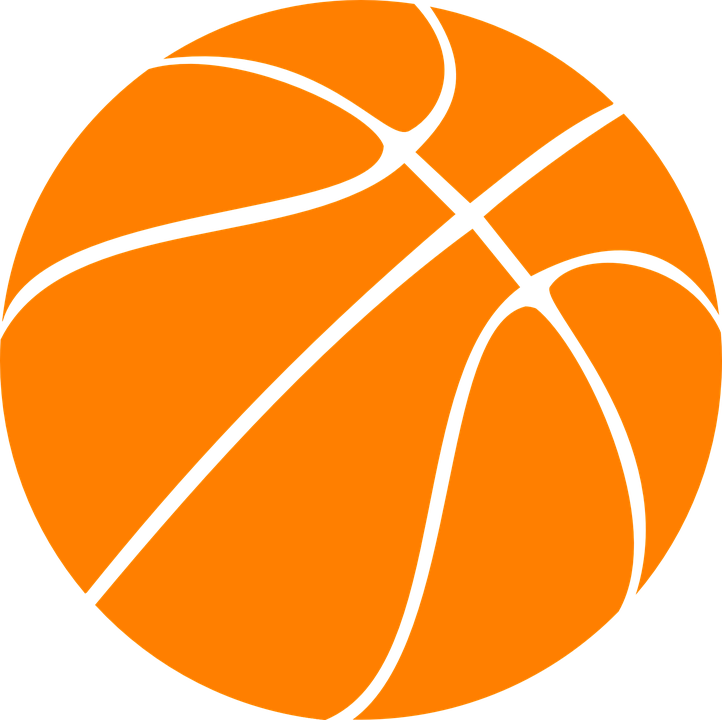 Basketball Black And White Clipart