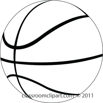 350x350 Clipart Basketball Free Basketball Clip Art Black And White