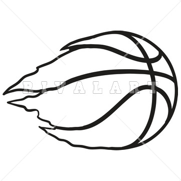 361x361 Basketball Clip Art Black And White Cbws