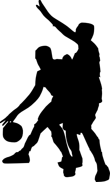 360x596 Basketball Defense Black Clip Art