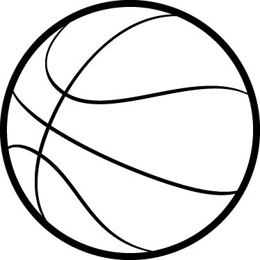 374x374 Basketball Outline