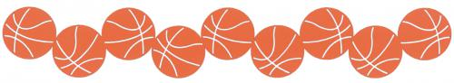 500x92 Basketball Border Diecut Cdstck