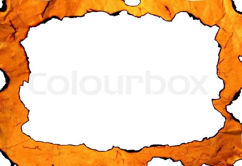800x550 Burned Ancient Paper With A Hole (As A Frame) Stock Photo