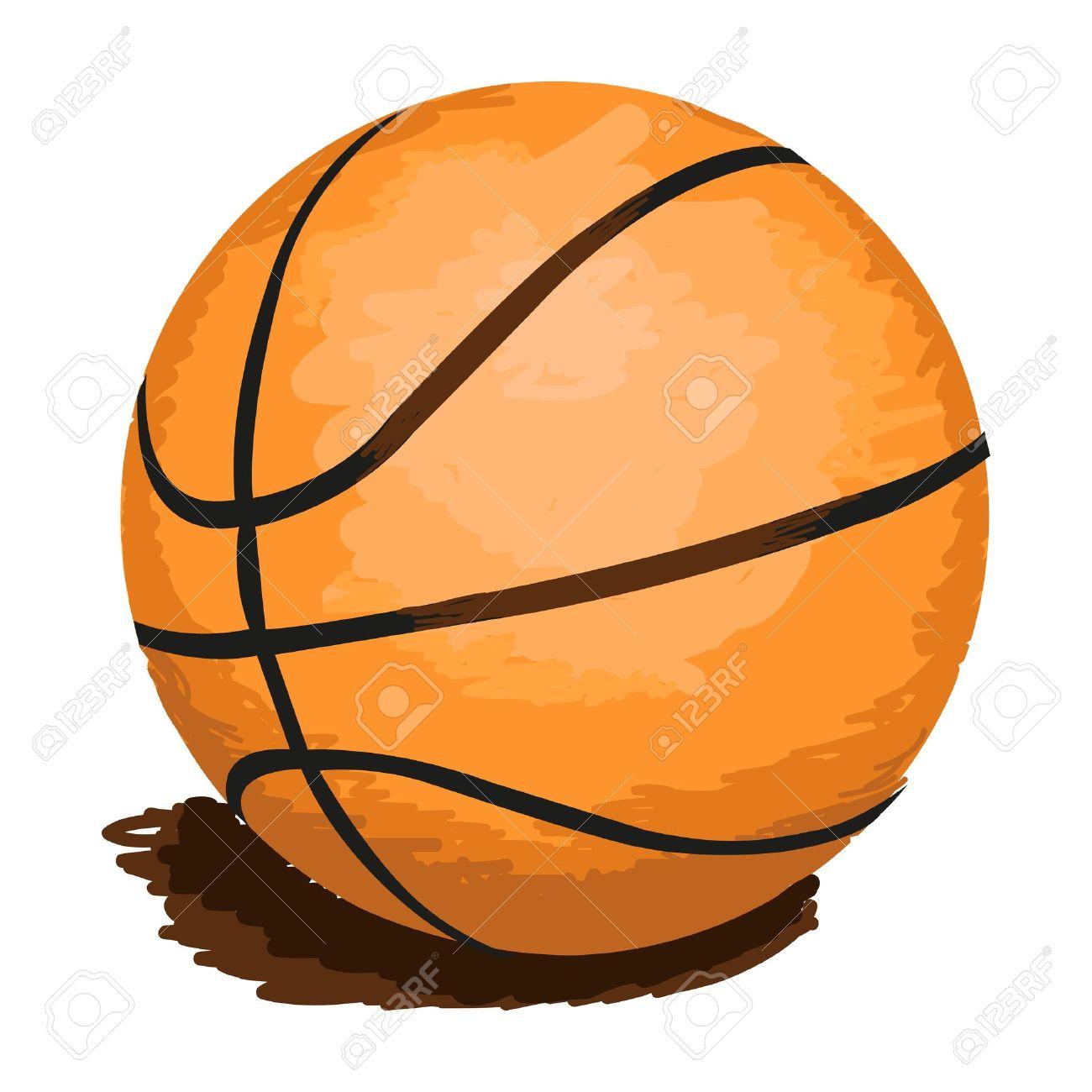 1300x1300 Drawn ball basketball