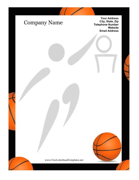 442x572 Basketball Border For Microsoft Word Clipart Panda