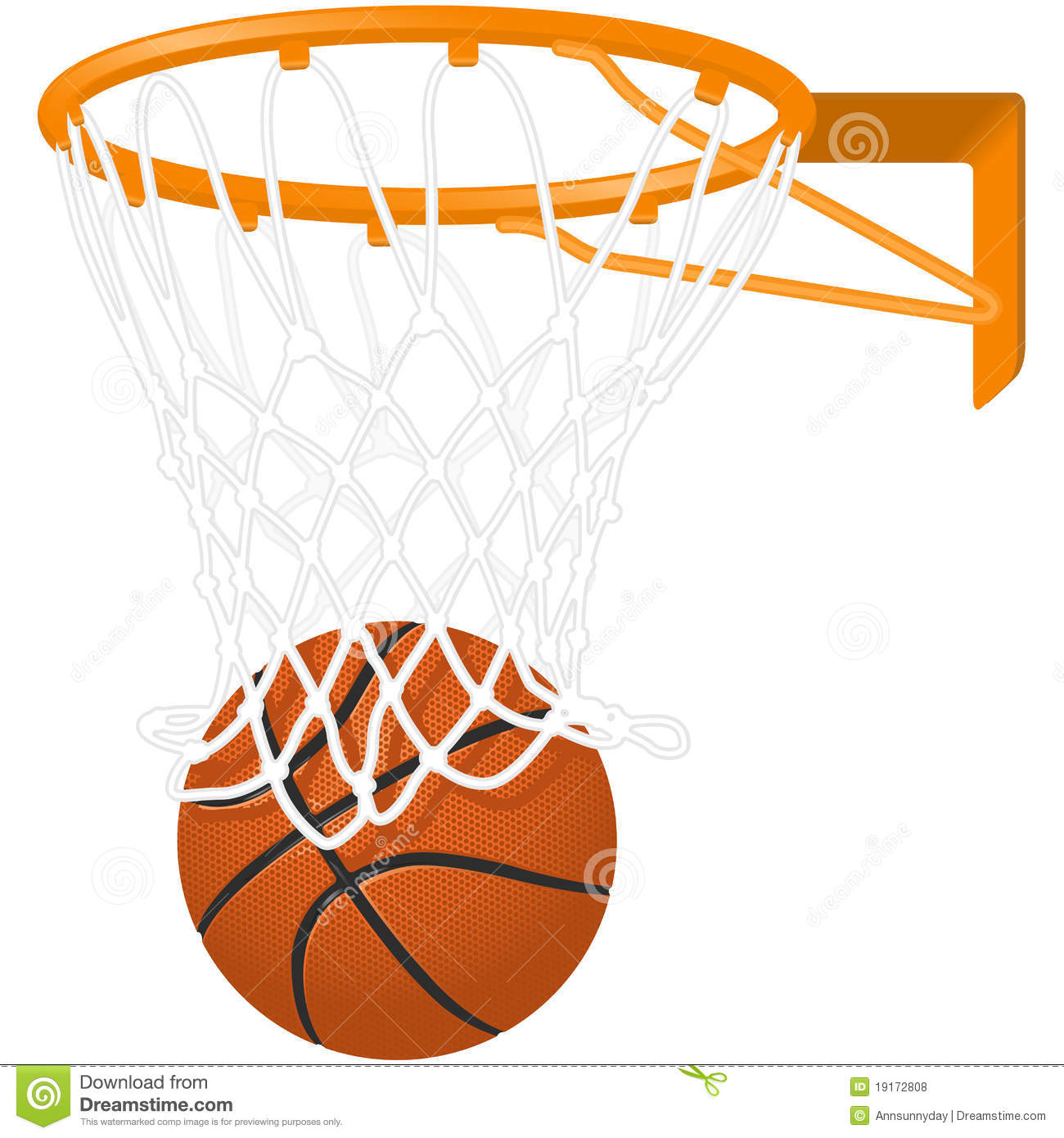 1300x1390 Basketball Net Colour Clipart