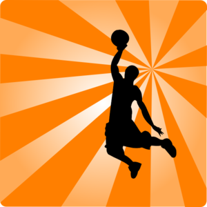 300x300 Basketball Orange Silhouette Clip Art