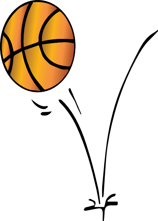 512x717 Bouncing Basketball Clip Art Cliparts