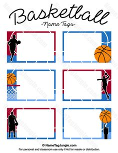 236x305 Free Printable Basketball Name Tags. The Template Can Also Be Used