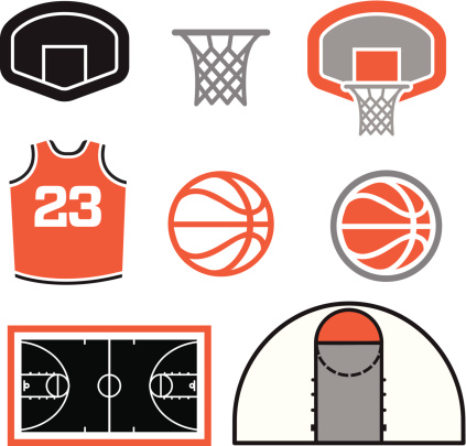 423x405 Ncaa March Madness Clip Art Simple Basketball Vector Elements