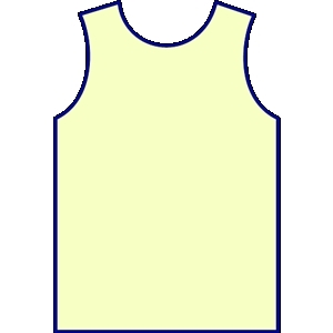 300x300 Blank Green Basketball Jersey Clipart