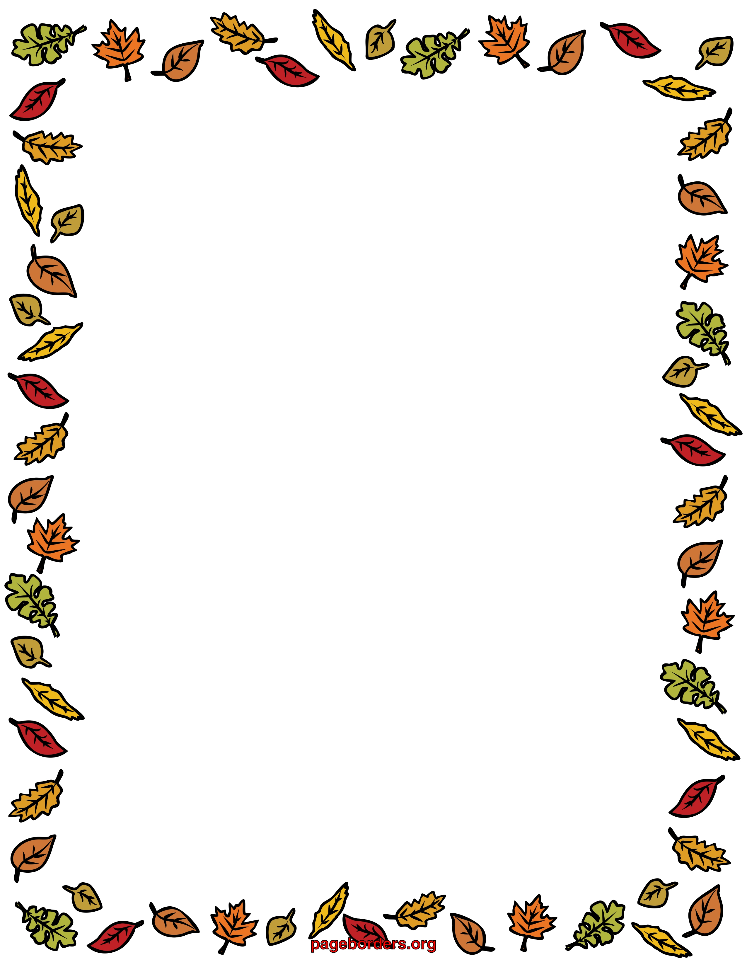 2550x3300 Free Autumn Clipart Borders