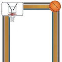 200x200 Basketball Border Clipart