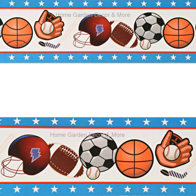 640x640 Sports Balls Football Baseball Basketball Hockey Soccer Boys Wall