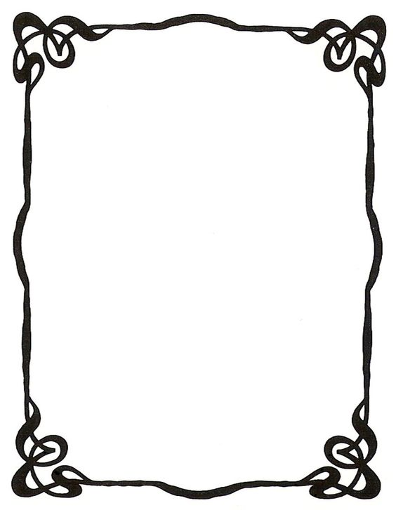 564x727 Free Simple Frame Clipart