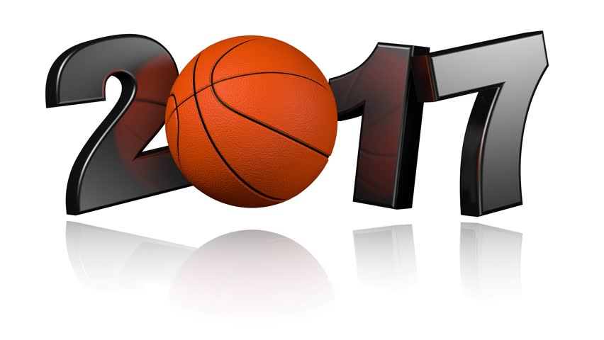 852x480 3d Illustration Of Basketball 2017 With A White Background Stock