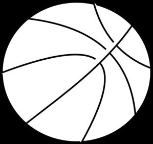 299x282 Black Amp White Clipart Basketball