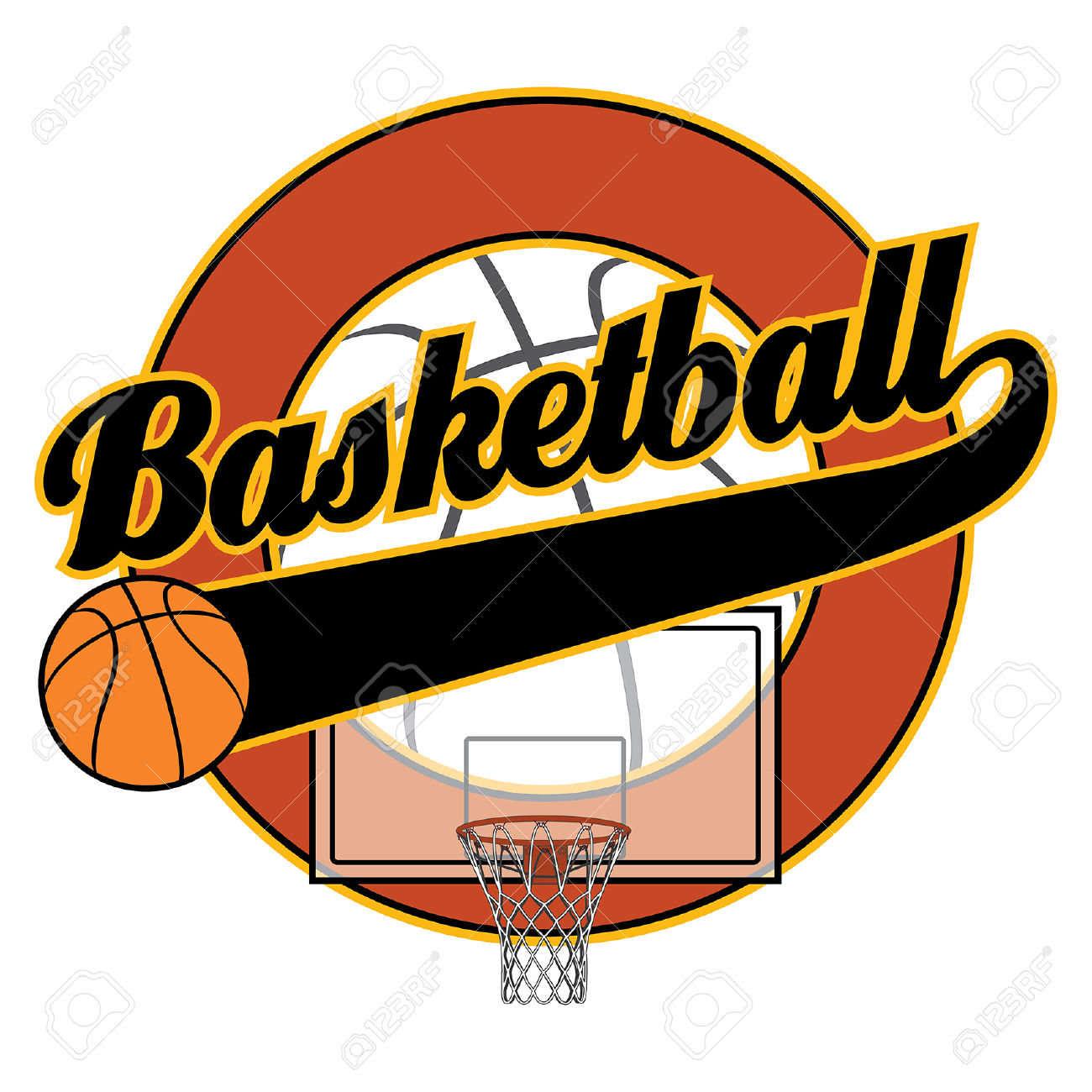 1300x1300 Word Clipart Basketball