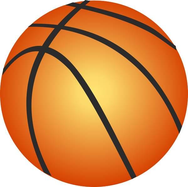 600x598 Basketball Clipart Vector Image
