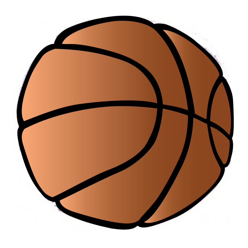 800x800 Brown Clipart Basketball