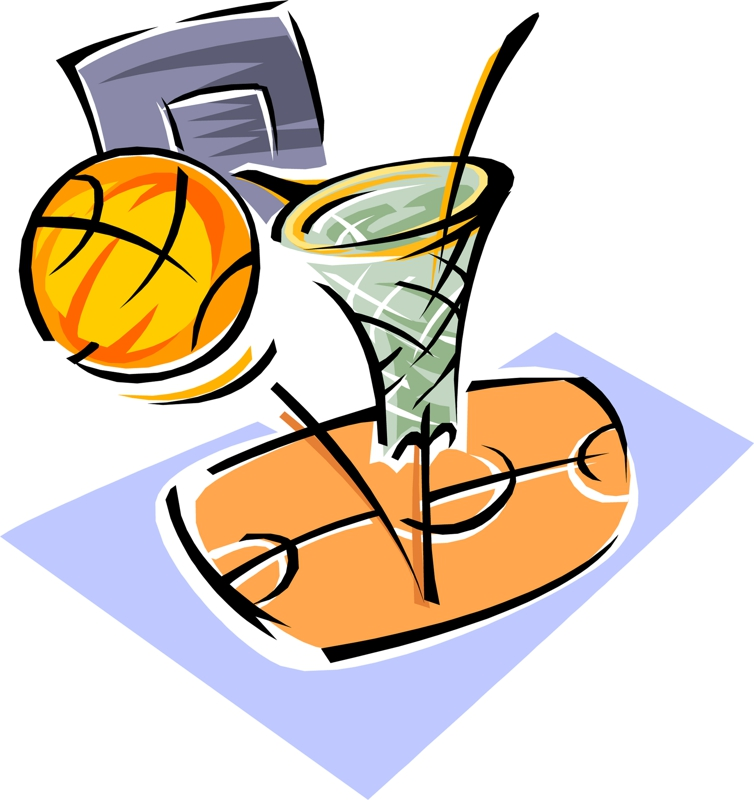 754x800 Basketball Game Clipart