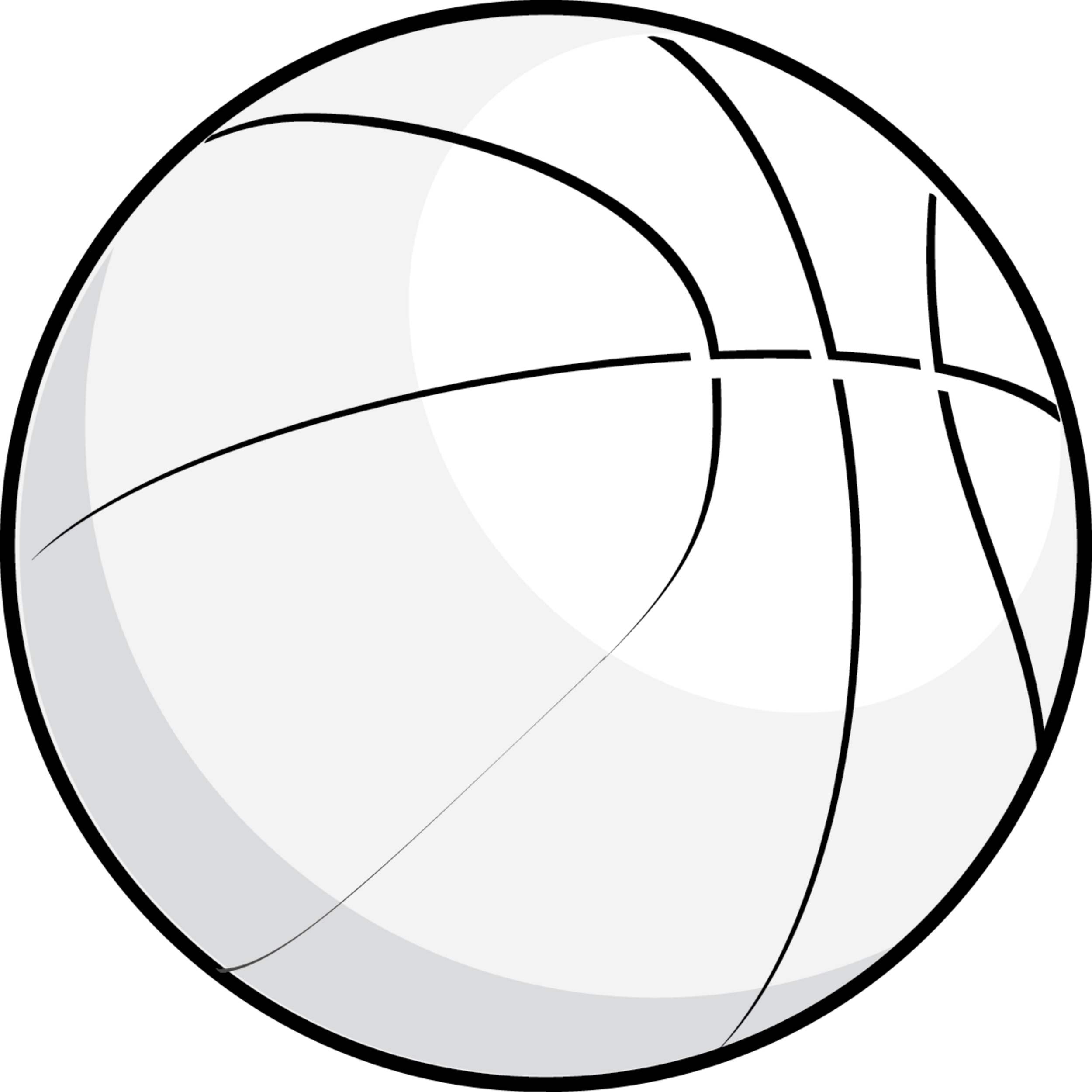2500x2500 Free Black And White Basketball Clipart