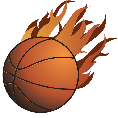500x500 Basketball On Fire Clipart
