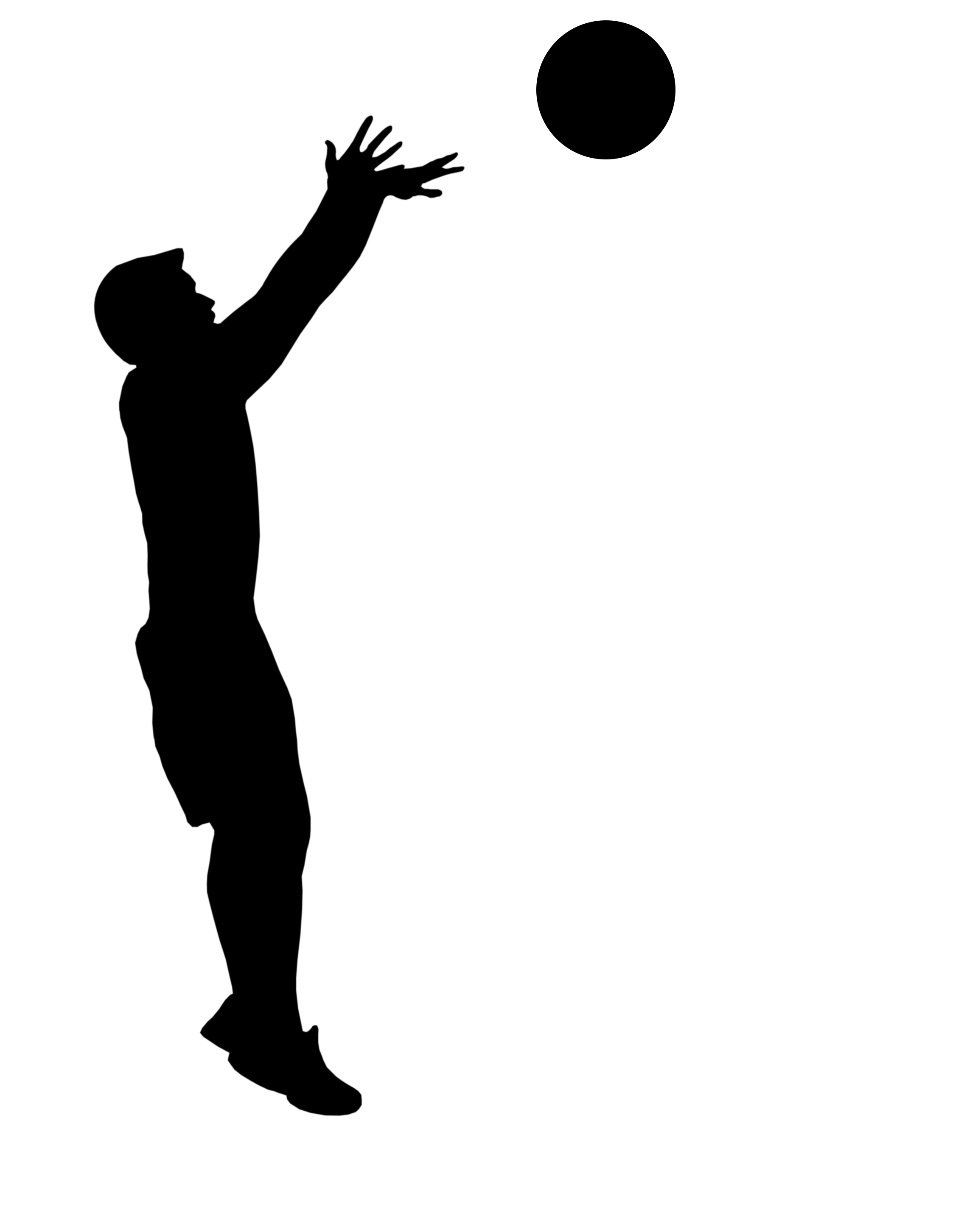 2272x2906 Basketball Player Clip Art