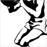 200x200 Free Girls Basketball Clipart