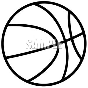 300x300 Basketball Clipart Black And White