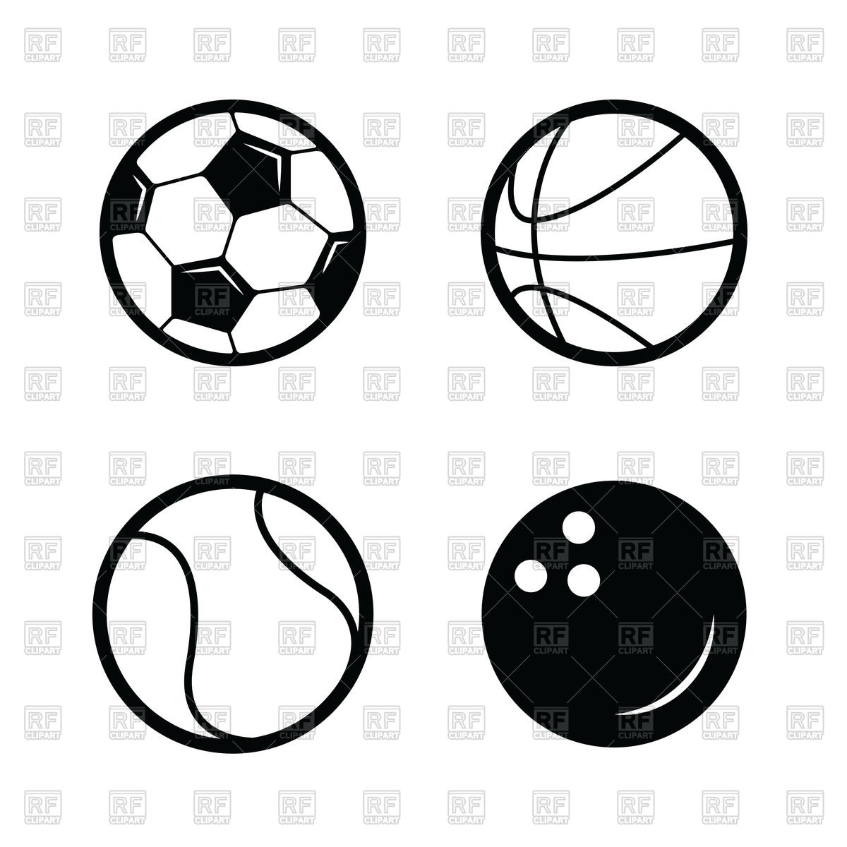 1200x1200 Soccer, Basketball, Tennis And Bowling Balls Icon Royalty Free