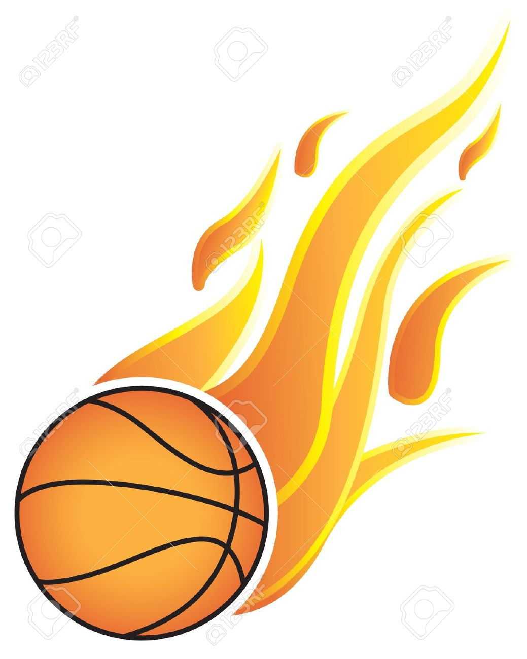 1039x1300 Clipart Basketball With Flames