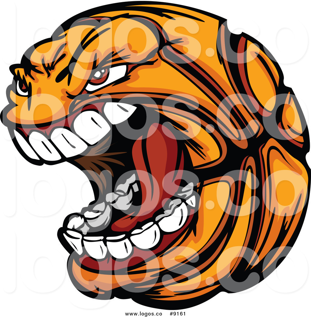 1024x1044 Royalty Free Clip Art Vector Screaming Basketball Sports Logo By