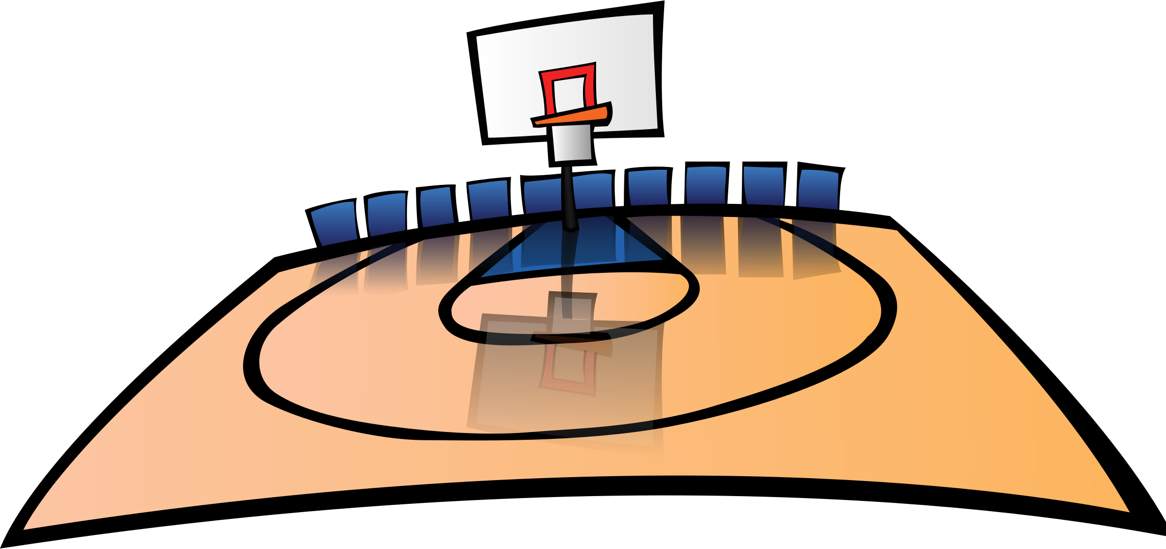 2400x1131 Top 69 Basketball Clip Art