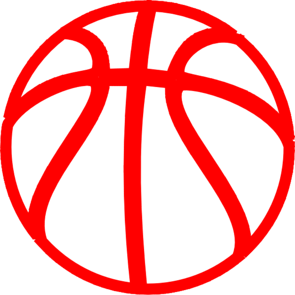 600x600 Basketball Outline Clip Art