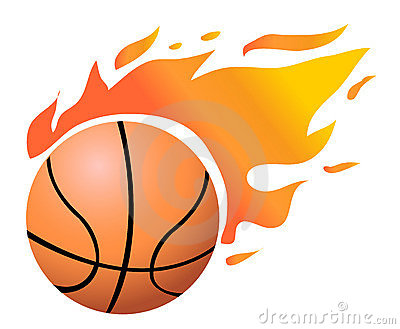400x329 Clipart Basketball With Flames