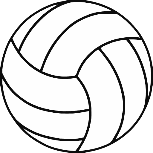 512x512 Free Printable Volleyball Clip Art Shape Collage