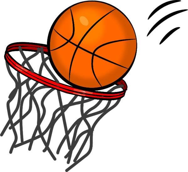 600x550 Basketball Clipart Free