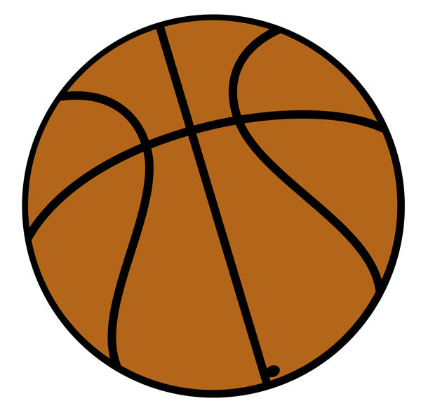 600x581 Basketball Clipart Free