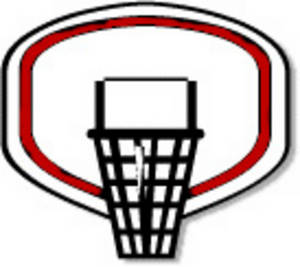 300x267 Clipart Image Of A Basketball Hoop