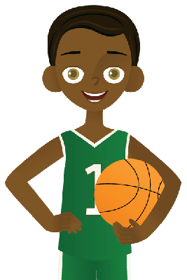 267x399 Little Boy Clipart Basketball Player