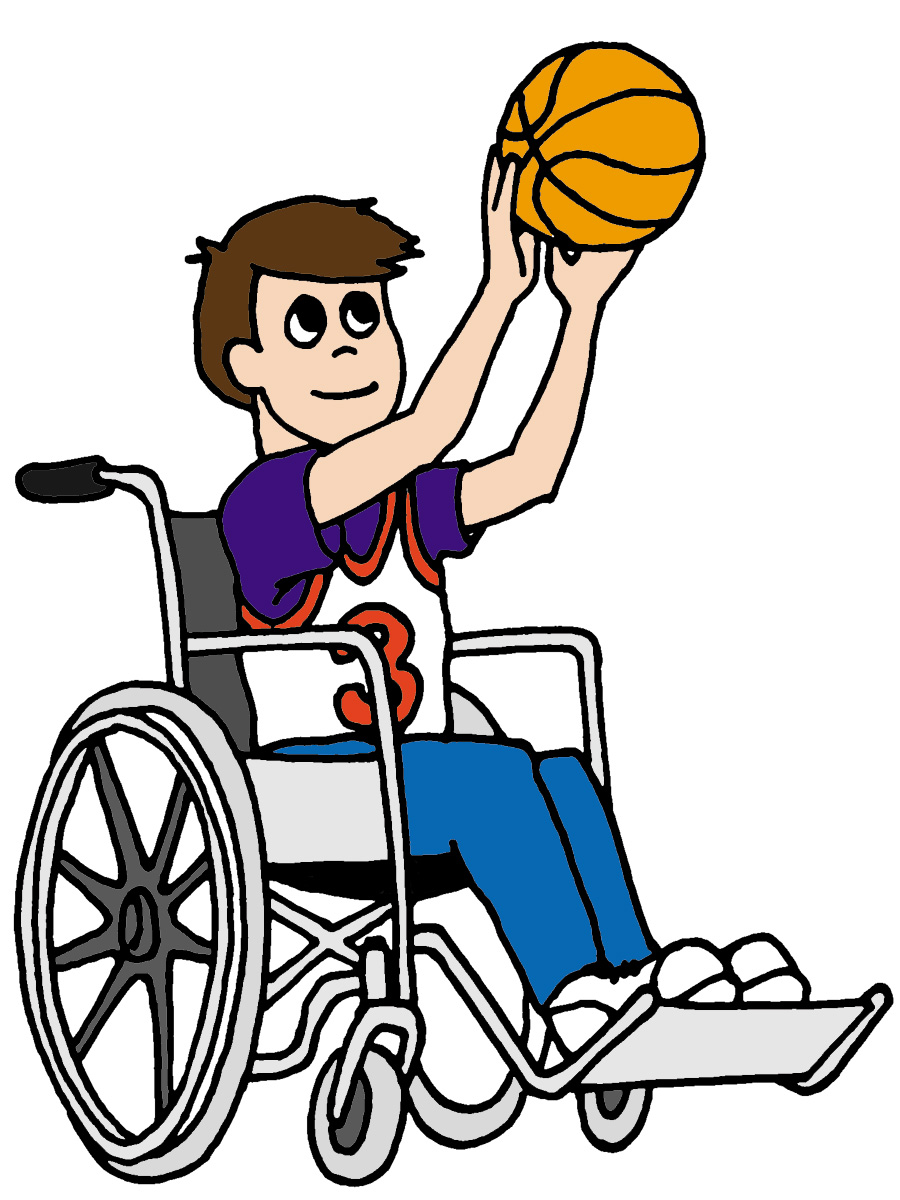 900x1200 Wheelchair Basketball Clipart Image