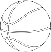 174x176 Basketball coloring pages Free Coloring Pages