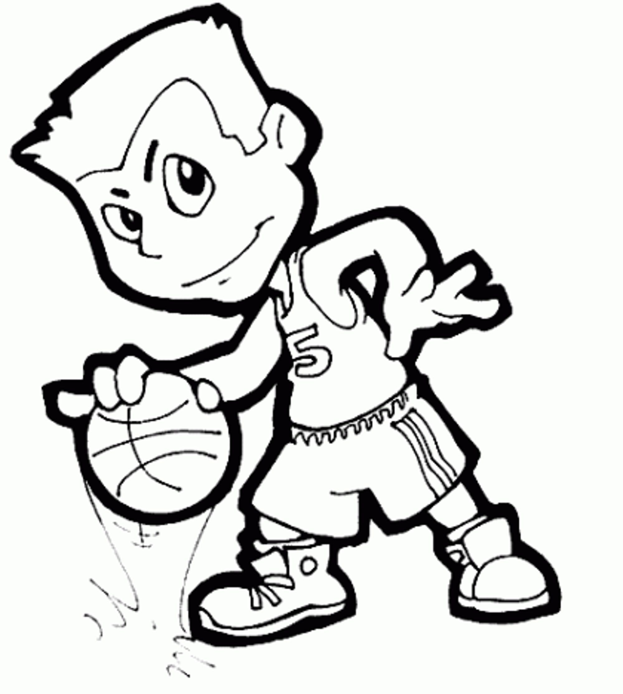 2000x2229 Basketball coloring pages for boys