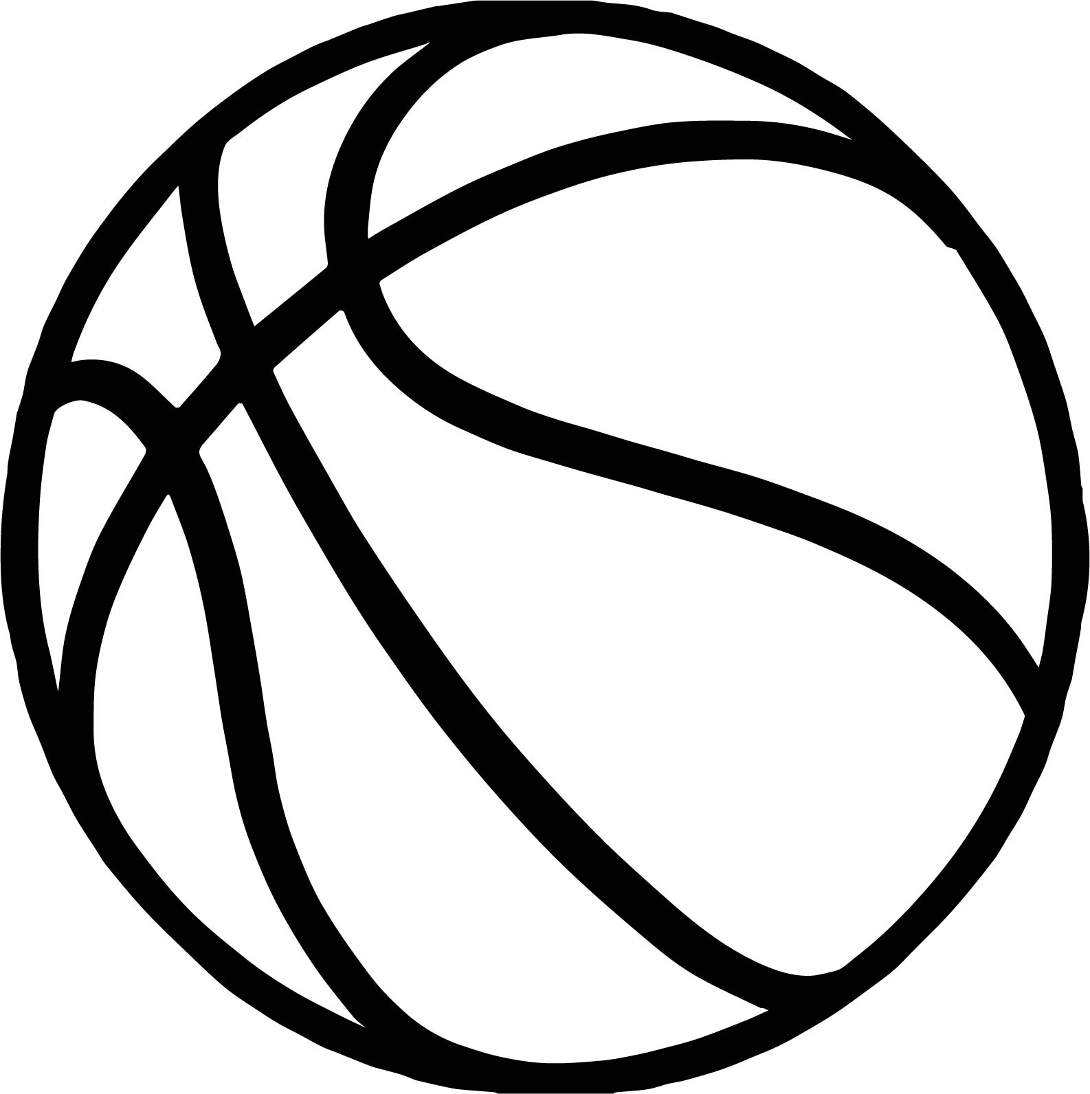 1586x1592 Bold Basketball Ball Coloring Page Wecoloringpage